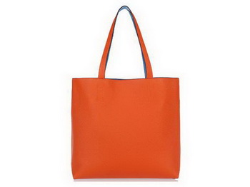 Hermes Shopping Bag 36CM Totes Clemence Leather Orange