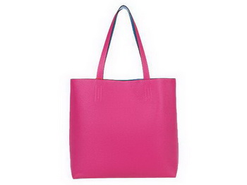 Hermes Shopping Bag 36CM Totes Clemence Leather Rosy