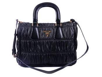 Prada BN2394 Gaufre Nappa Leather Tote Bag Black
