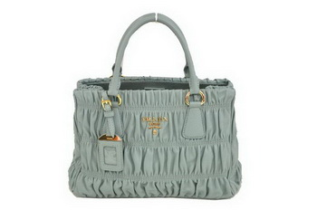 Prada Gaufre Nappa Leather 30cm Tote Bag BN2394 Light Blue