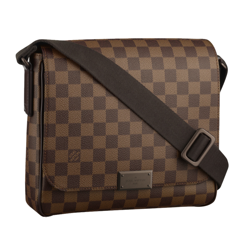 Louis Vuitton Damier Ebene Canvas District PM Messenger Bags N41213
