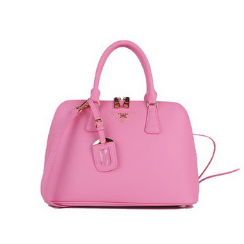 Knock Off PRADA Saffiano Calf Leather Two Handle Bag BL0837 Pink