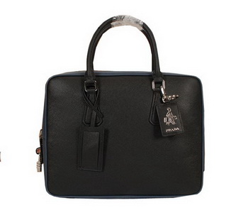 Prada Original Leather Briefcase 305M Black