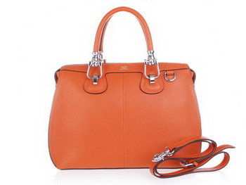 Hermes Calfskin Leather Shoulder Bag H0322 Orange