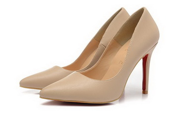 Christian Louboutin Sheepskin Leather 100mm Pump CL1432 Apricot