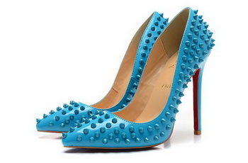 Christian Louboutin Patent Leather 120mm Pump CL1440 Blue