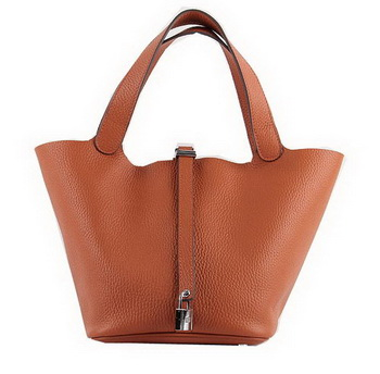 Hermes Picotin Lock MM Bags Clemence Leather H8616 Orange