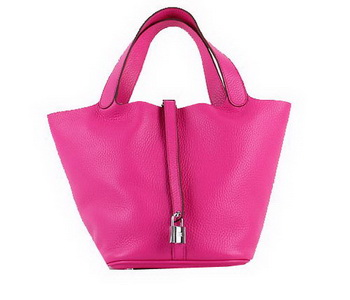 Hermes Picotin Lock PM Bags Clemence Leather H8615 Rose