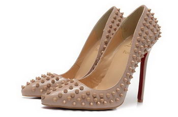 Christian Louboutin 120mm Pump Calfskin Leather CL1464 Apricot