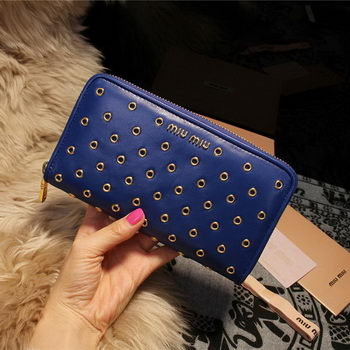 miu miu Nappa Leather Wallet 5M1103 Royal