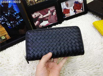 Bottega Veneta Intrecciato Nappa Zip Around Wallet BV5808 Black