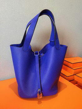 Hermes Picotin Lock 22cm Bags Litchi Leather HPT22 Blue