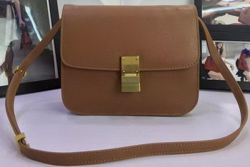 Celine Classic Box Flap Bag Calfskin Leather C88008 Wheat