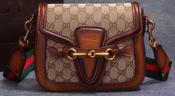 Gucci Lady Web Original GG Canvas Shoulder Bag 383848 Wheat