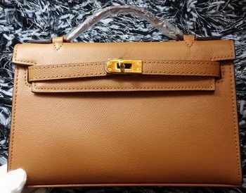 Hermes MINI Kelly 22cm Tote Bag Calf Leather K011 Wheat