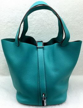 Hermes Picotin Lock 22cm Bags Litchi Leather HPL1048 Green