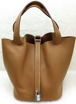 Hermes Picotin Lock 22cm Bags Litchi Leather HPL1048 Wheat