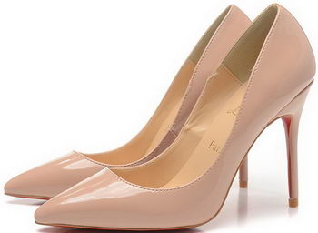 Christian Louboutin 100mm Pump Patent Leather CL1493 Apricot