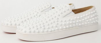 Christian Louboutin Casual Shoes Sheepskin Leather CL905 White