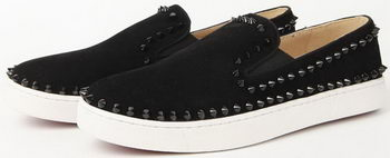 Christian Louboutin Casual Shoes Suede Leather CL907 Black