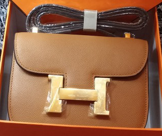 Hermes Constance Bag Litchi Leather H9999L Wheat