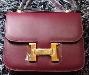 Hermes Constance Bag Smooth Leather H9998S Burgundy