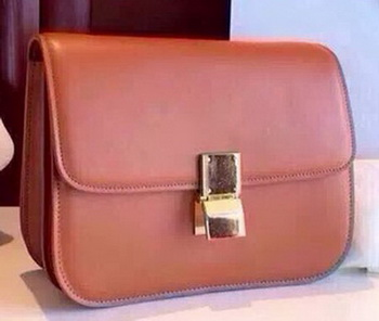 Celine Classic Box Flap Bag Calfskin Leather C2263 Wheat