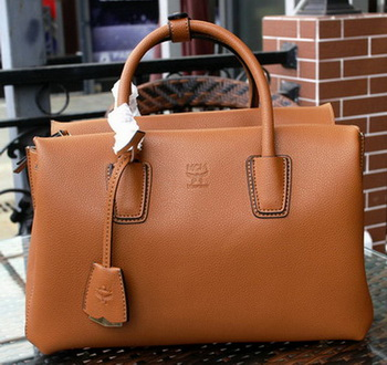 MCM Milla Tote Bag Calfskin Leather MCM1180 Wheat