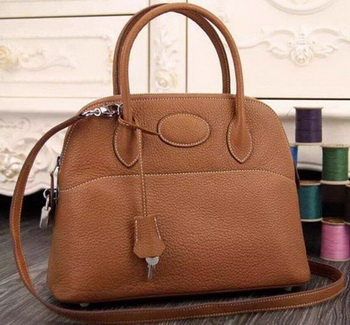 Hermes Bolide 37CM Calfskin Leather Tote Bag B1004 Wheat
