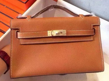 Hermes MINI Kelly 22cm Tote Bag Calfskin Leather K22 Wheat