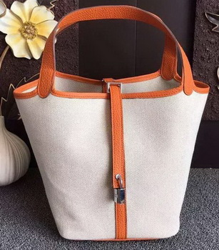 Hermes Picotin Lock 18cm Bag Canvas HPL8618T Orange