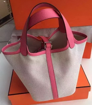Hermes Picotin Lock 18cm Bag Canvas HPL8618T Pink