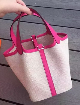 Hermes Picotin Lock 18cm Bag Canvas HPL8618T Rose