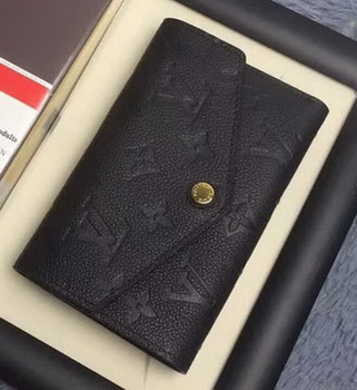 Louis Vuitton Monogram Empreinte COMPACT CURIEUSE WALLET M60568 Black