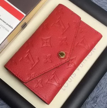 Louis Vuitton Monogram Empreinte COMPACT CURIEUSE WALLET M60568 Red