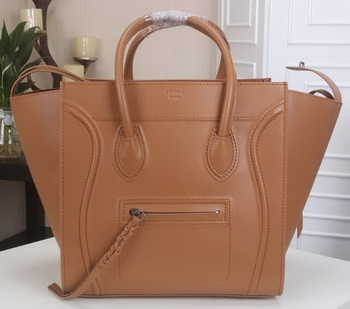 Celine Luggage Phantom Tote Bag Smooth Leather CT3341 Wheat