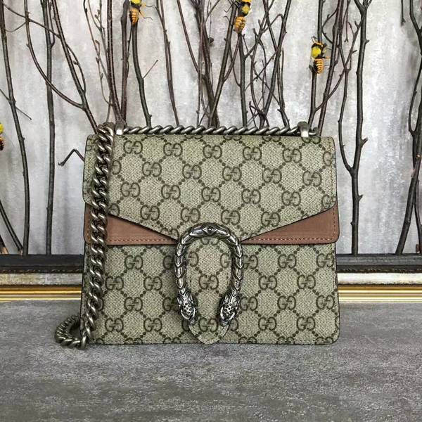 Gucci Mini Dionysus GG Canvas Shoulder Bag 421970 Camel