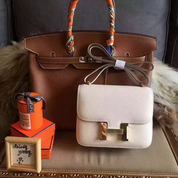 Hermes Constance Bag Original Leather H027 Offwhite