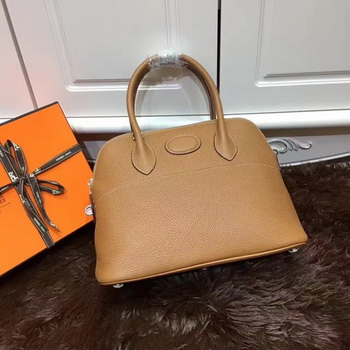 Hermes Bolide 31CM Calfskin Leather Tote Bag B3302 Wheat
