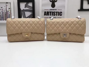 Chanel 2.55 Series Flap Bags Original Cannage Pattern A1112 Apricot