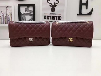 Chanel 2.55 Series Flap Bags Original Cannage Pattern A1112 Wine