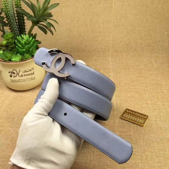 Chanel 30mm Leather Belt CH5234 Blue