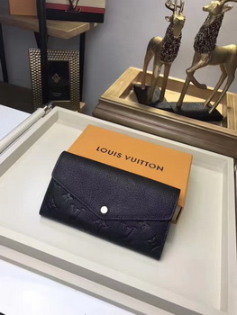 Louis Vuitton Monogram Empreinte SARAH WALLET M61182 Black
