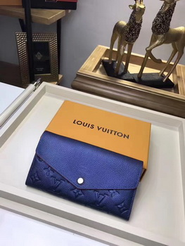 Louis Vuitton Monogram Empreinte SARAH WALLET M61182 Blue