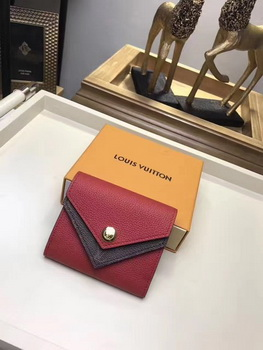 Louis Vuitton CRUISE 2017 DOUBLE V COMPACT WALLET M64419 Red