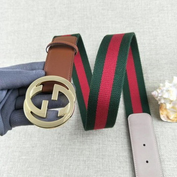 Gucci 40mm Leather Belt GG57560 Wheat