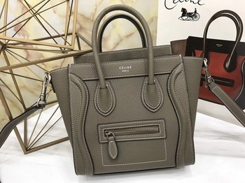 Celine Luggage Nano Tote Bag Original Leather CLY33081S Wheat