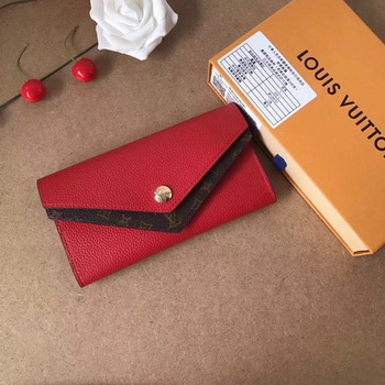 Louis Vuitton CRUISE 2017 DOUBLE V WALLET M64317 Red