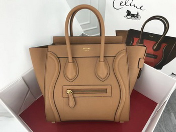 Celine Luggage Micro Tote Bag Original Leather CLY33081M Apricot