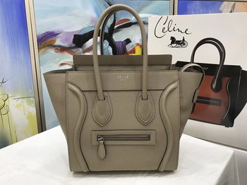 Celine Luggage Micro Tote Bag Original Leather CLY33081M Khaki